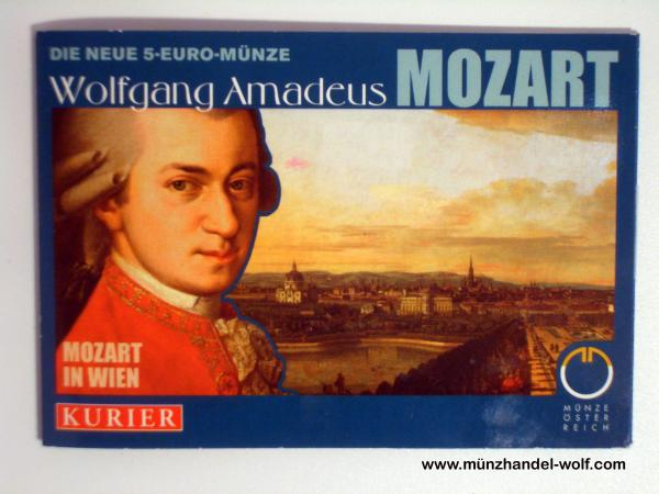 5 Euro Silber 2006 Wolfgang Amadeus Mozart in Wien Hgh Miniblister